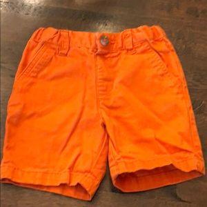 Children's place boys orange shorts 2T